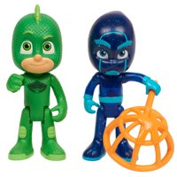 PJ Masks Light Up Hero and Villian 2-Pack Figure Set - Gekko vs. Night Ninja