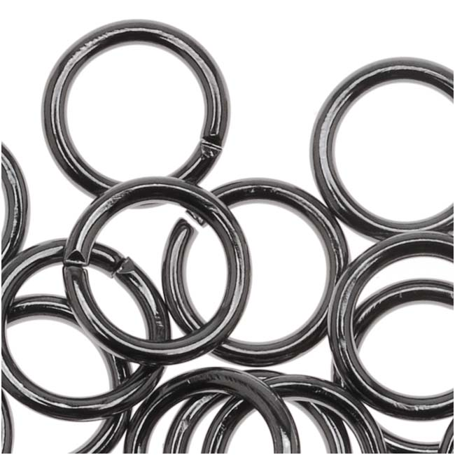 Gun Metal Plated Open 7mm Jump Rings 18 Gauge (50)