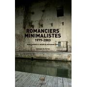 Romanciers minimalistes 1979-2003 - eBook