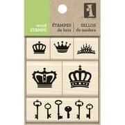 Inkadinkado Mounted Stamp Set, Crown