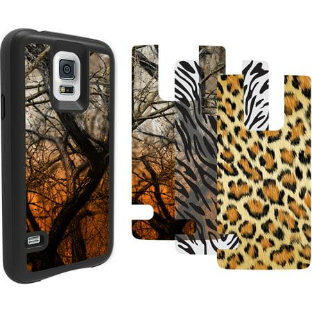 Impact Gel Xtreme Armour Transformer Phone Case for Samsung Galaxy S5, Black Camouflage (Cassette Case Galaxy S5)