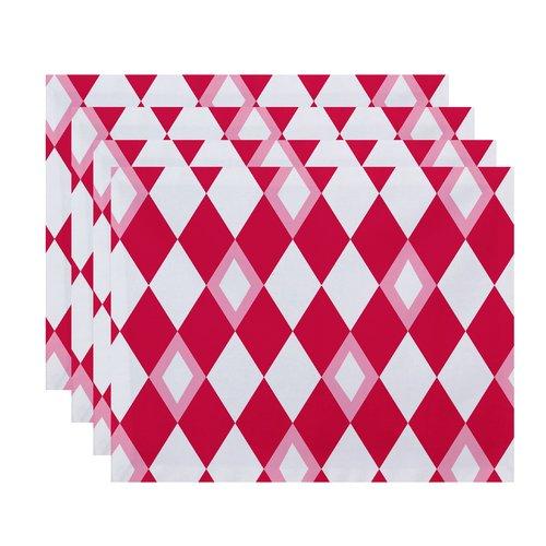 Ivy Bronx Felice Geometric Print Placemat (Set of 4)
