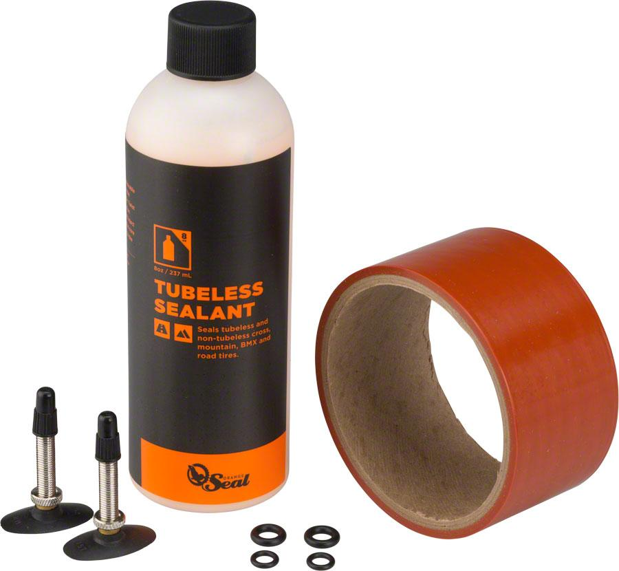 Orange Seal 45mm Fatbike Tubeless Kit with Original Formula Sealant