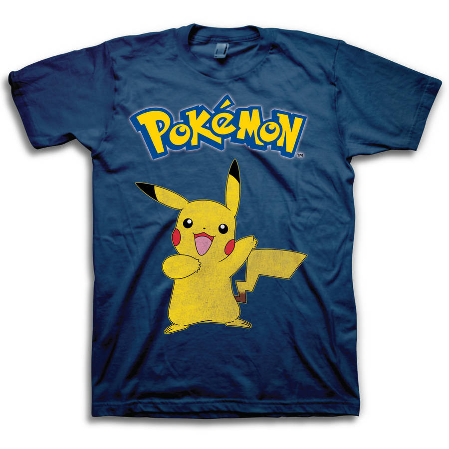 Pokemon Pikachu Vintage Logo Men's Short Sleeve T-shirt