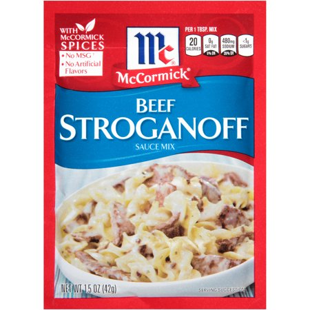 (4 Pack) McCormick Beef Stroganoff Sauce Mix, 1.5 (Beef Sweet Sauce)