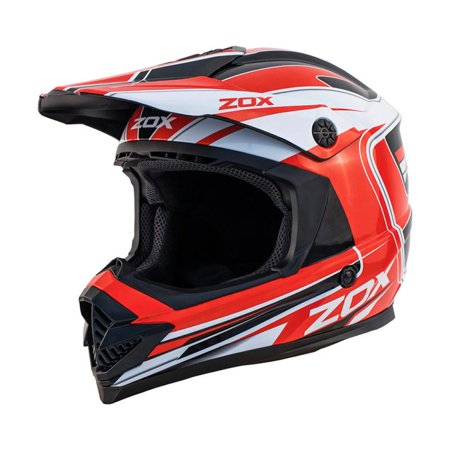 ZOX RUSH LUCID - Junior Youth Street Motocross Dirt Off-Road Motorcycle Helmet - Red - image 3 de 3