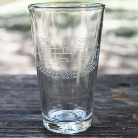 16oz Combat Action Badge Beer Glass