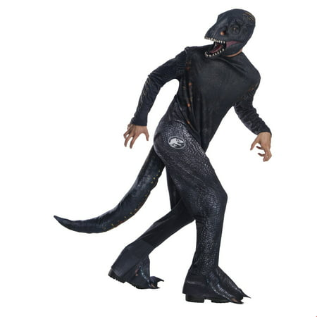 Long Halloween Villains (Jurassic World: Fallen Kingdom Mens Villain Dinosaur Halloween)