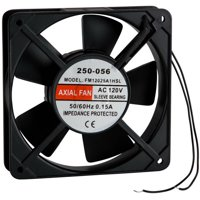 Muffin Style Axial Cooling Fan 120 VAC 120 x 120 x 25mm 45 CFM