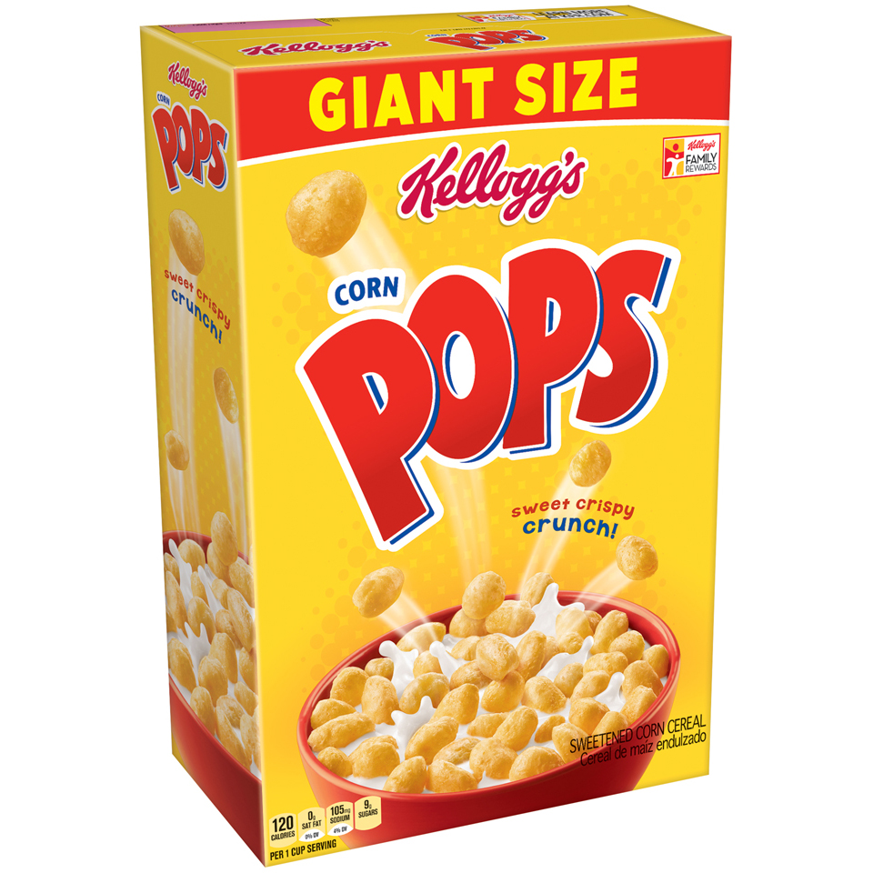 Kellogg's Corn Pops Cereal Family Size, 25.6 ounce