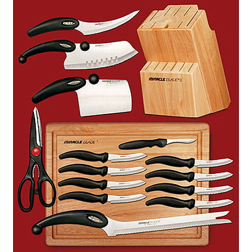 Click here to buy Miracle Blade III 17-Piece Knife Set by Miracle Blades.