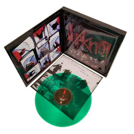 Slipknot 2009 Road Runner Records Green Vinyl LP Album & Tee Shirt Box Set - LG Vintage Record Album
