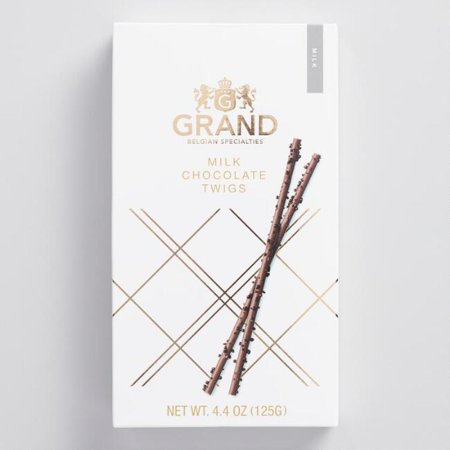 Belgian Chocolates Milk - Grand Belgian Specialties Milk Chocolate Twigs 4.4 oz. (Pack of 1)