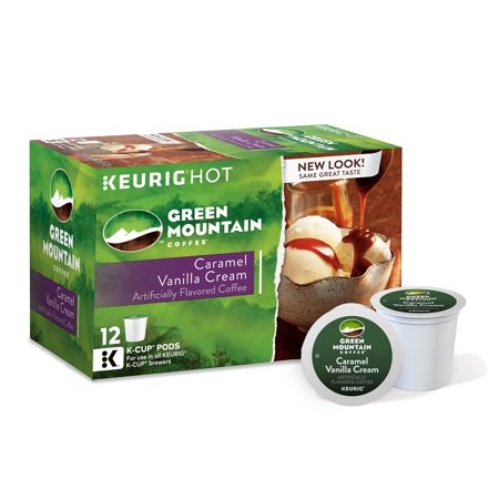 Green Mountain Coffee Caramel Vanilla Cream, Keurig K-Cups, 72 (Green Mountain Caramel Vanilla Cream K Cups)