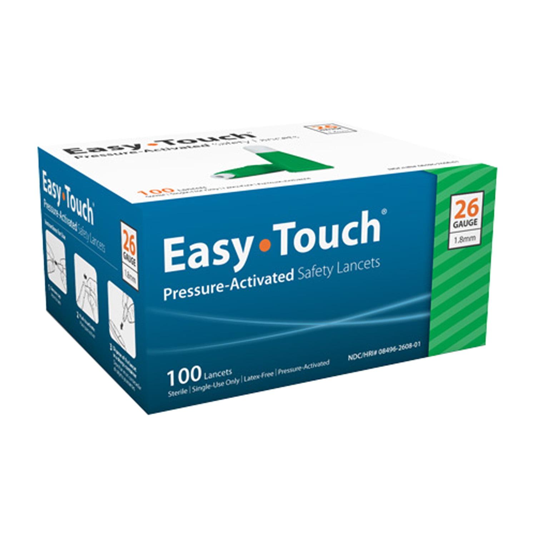 EasyTouch Pressure Activated Safety Lancets 26 gauge - 100 ea. Model 826081