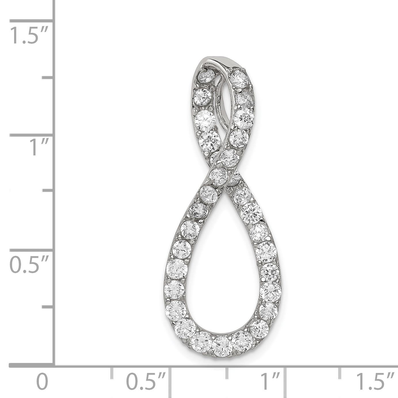 925 Sterling Silver Cubic Zirconia Fancy Pendant - image 1 de 2