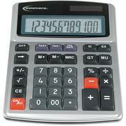 Innovera Commercial Calculator, Large Digit/Display, Heavy Duty Keys, Dual Power, Silver