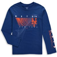 Product Image New York Mets Majestic Youth Motion Meter Long Sleeve T-Shirt  - Royal e789f01b4