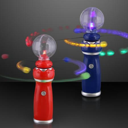 FlashingBlinkyLights Orbiting LEDs Toy Wand with Crystal Ball ()
