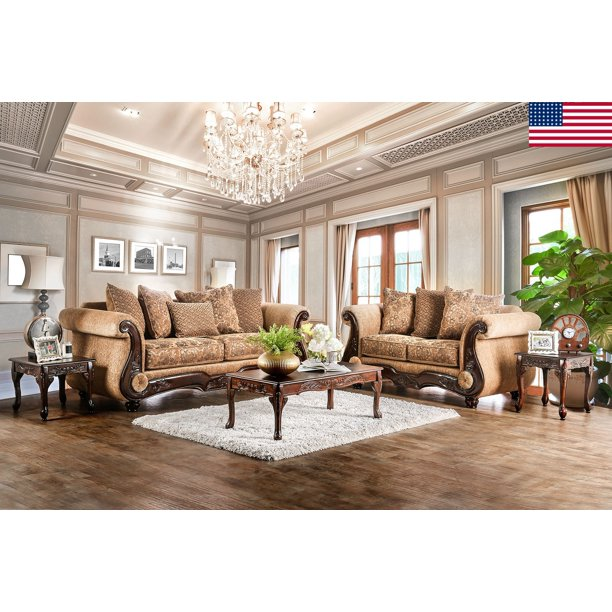 Traditional Living Room Furniture 2pc, Traditional Sofas Living Room Furniture