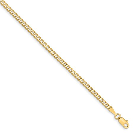 Roy Rose Jewelry 14K Yellow Gold 2.3mm Beveled Curb Chain ~ length: 10 inches