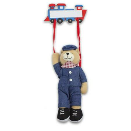 Plush Train Engineer Bear Hanging Name Tag (Cute Names To Name A Teddy Bear)