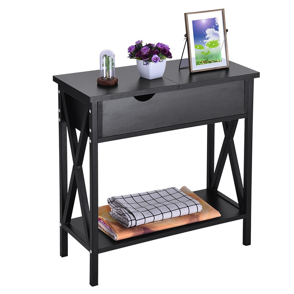 snorda Simple Flip Top Table Console Sofa Side Table ...