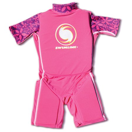 Swimline Pink Lycra Children's Swim Trainer Wet Suit/Life Vest, Small 9892G