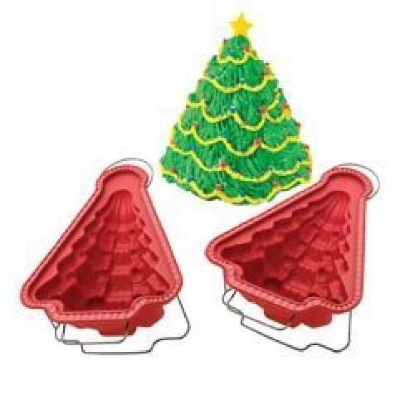 ROSHCO Create -N- Celebrate silicone Christmas tree cake pan