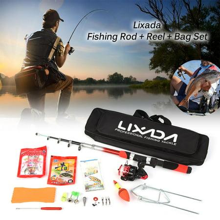 Lixada Fishing Tackle Set With Fishing Sea Rod Spinning Fishing Reel Fishing Baits Hooks Fishing Bag