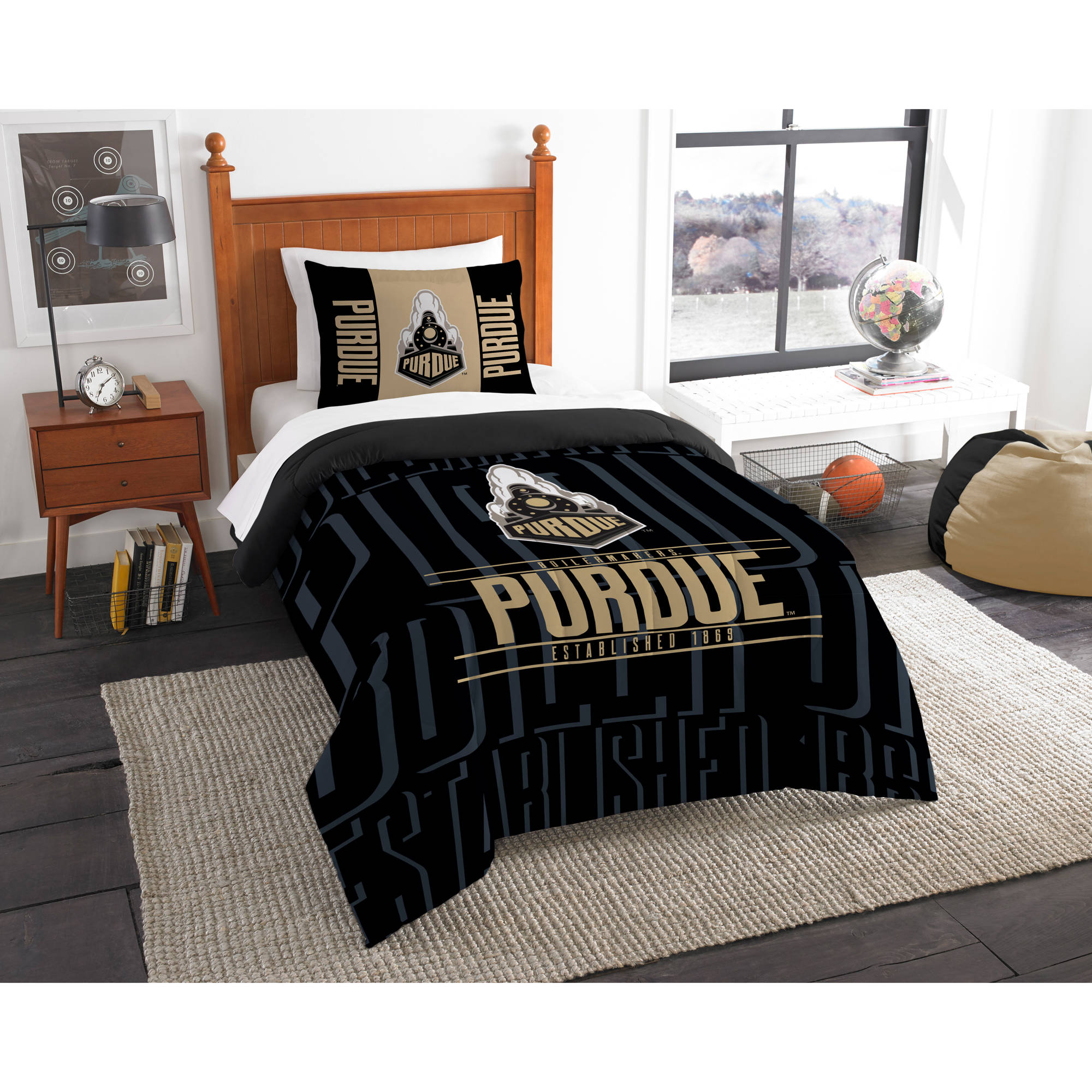 "NCAA Purdue Boilermakers ""Modern Take"" Bedding Comforter Set"