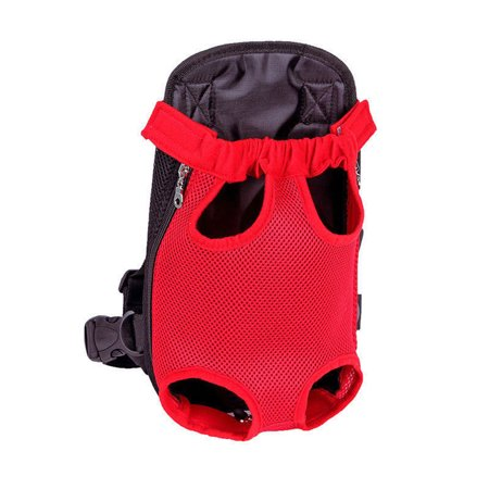 Pet Carrier ,Breathable Double Shoulder Dog Pet Puppy Bags Backpack Knapsack Cat Carrier Packsack Travelling Pet Holder Bag for Biking, Hiking, Trip, Shopping Red