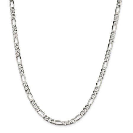 Roy Rose Jewelry Sterling Silver 5.5mm Polished Flat Figaro Chain 16