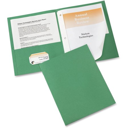 - Avery Two-Pocket Folder, Prong Fastener, Letter, 1/2