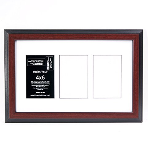 7 Opening 4x6 Glass Face Mahogany Picture Frame W// 10x36 White Mat Collage
