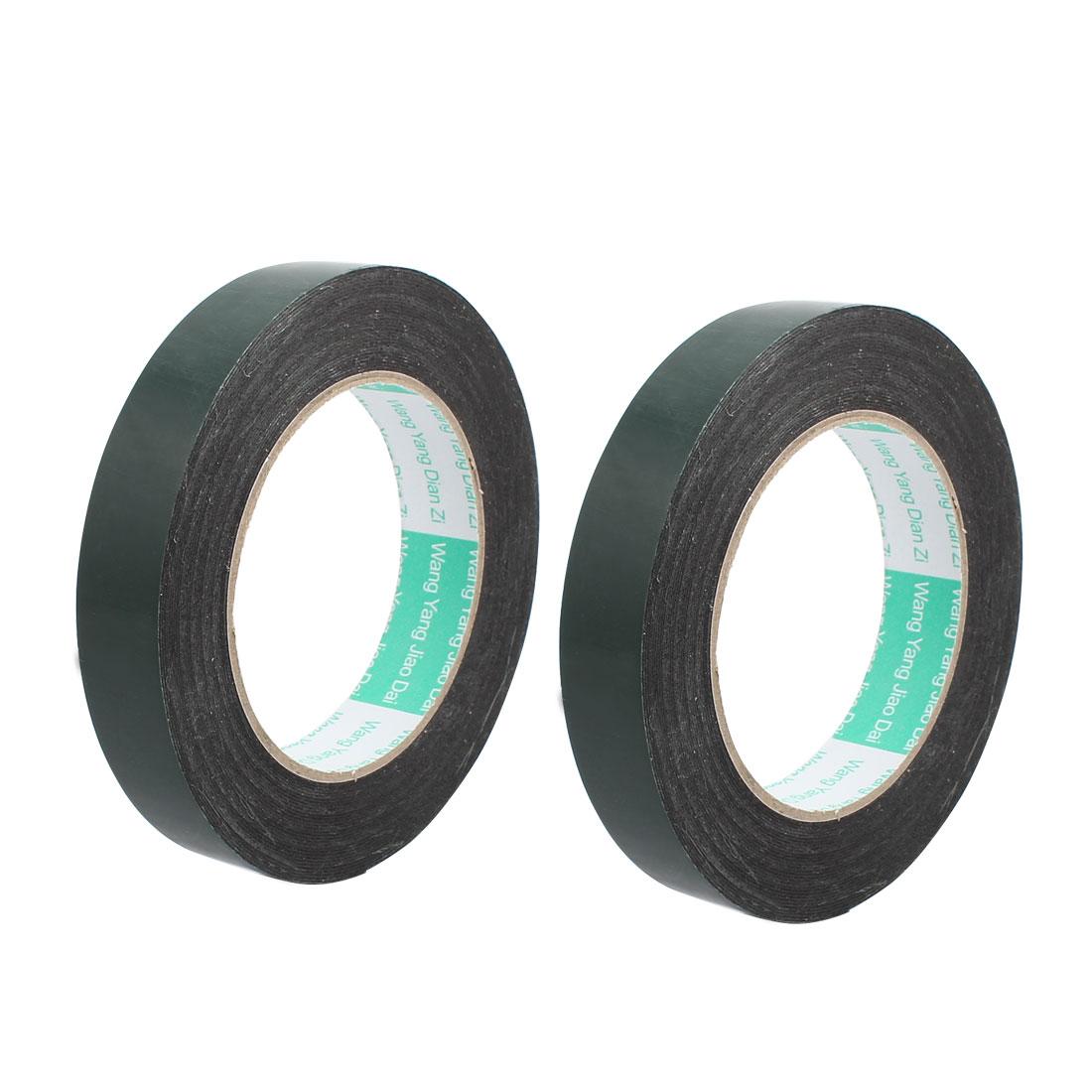 2Pcs 20mmx0.5mm Double Sided Sponge Tape Adhesive Sticker Foam Glue Strip 10m - image 3 de 3