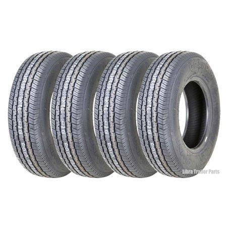 Set Of 4 New Grand Ride Premium Trailer Tires St 175 80r13 8pr Load