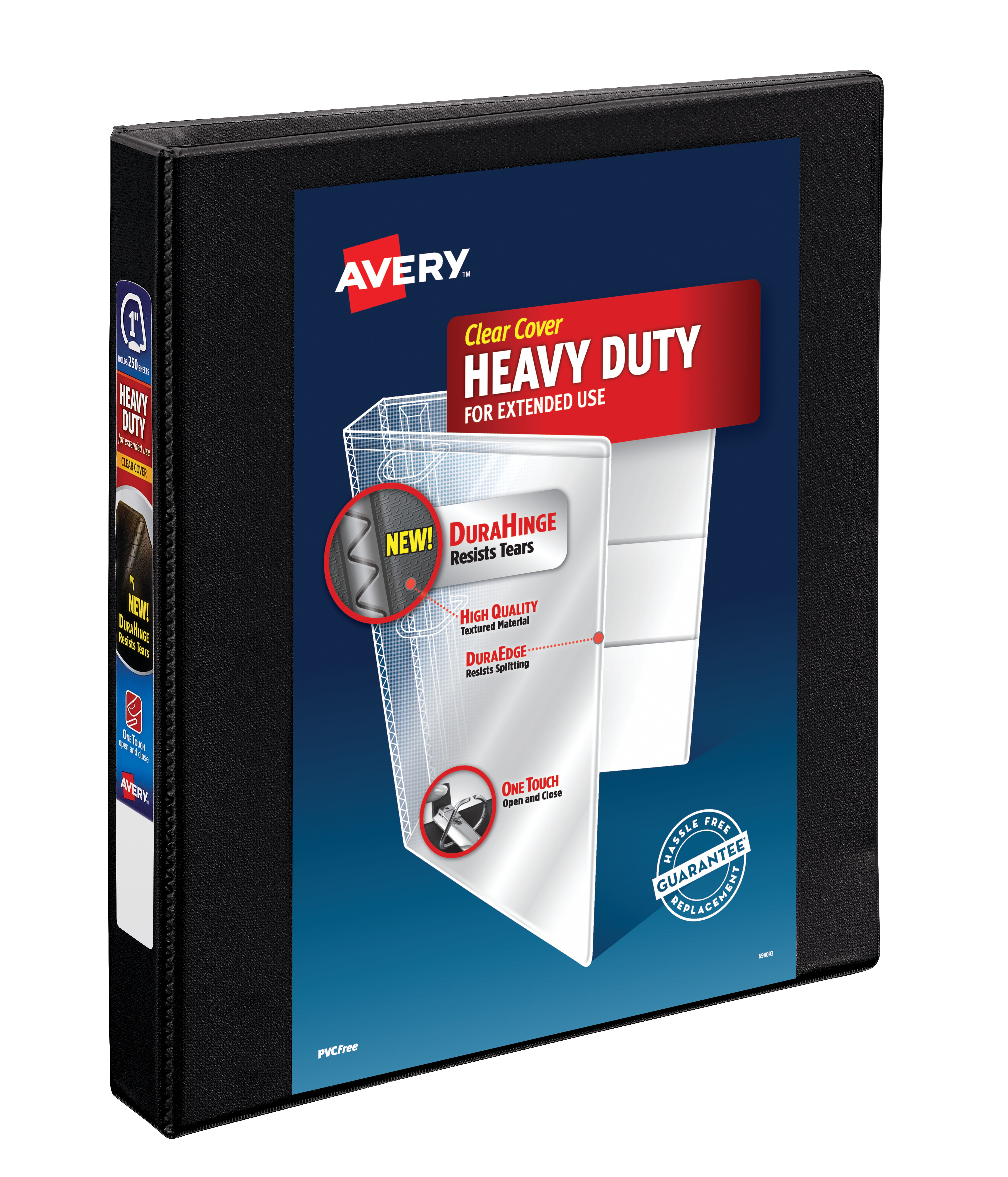 "Avery 1"" Heavy Duty Binder, One Touch EZD Ring, Black, 275"