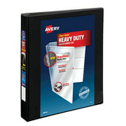 "(2 Pack) Avery 1"" Heavy-Duty Binder, One Touch Rings, DuraHinge, Black, 79137"
