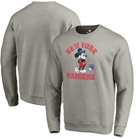 pretty nice 01efa 28bfe New York Rangers Fanatics Branded Disney Tradition Sweatshirt - Heathered  Gray
