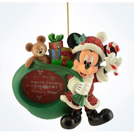 Disney Parks Mickey As Santa & Duffy Photo Frame Christmas Ornament New W Tags (Photo Frame Christmas Ornaments)