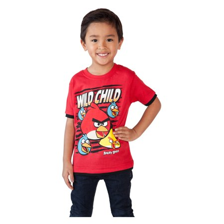 Toddler Boys Angry Birds T-Shirt Wild Child Red 2T](Rex Kid)