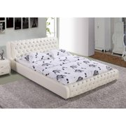 US Pride Furniture Samuel White Contemporary Platform Bed
