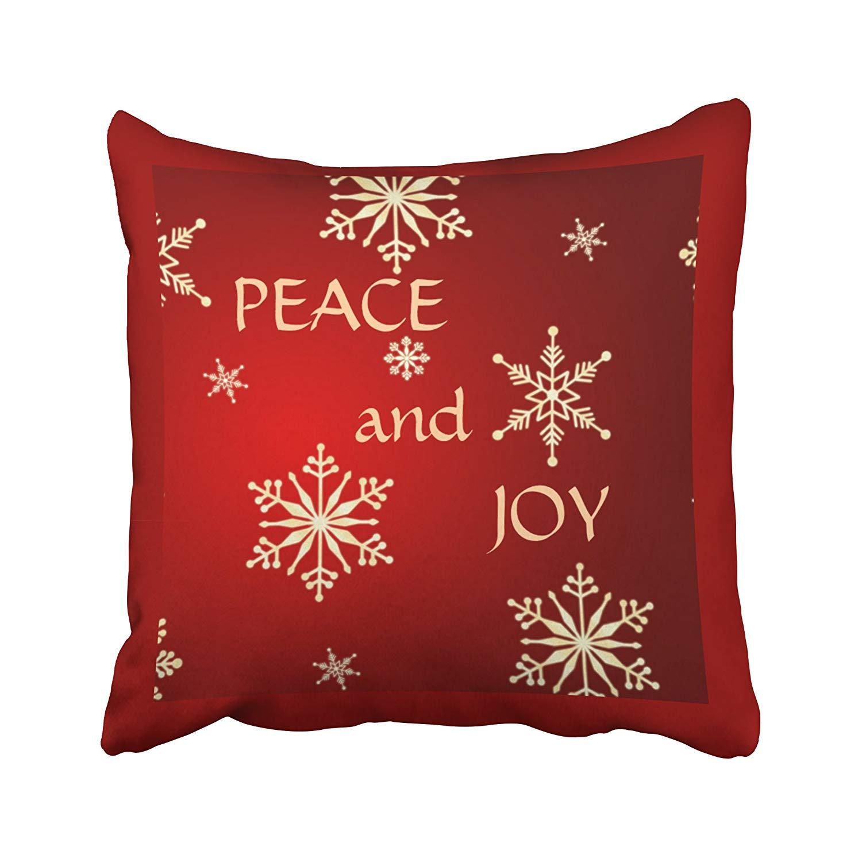 Artjia Xmas New Year Snowflakes Peace Joy Christmas