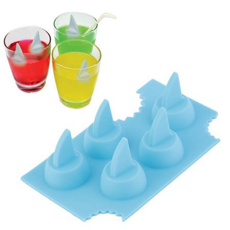 Silicone Blue Shark Fin Ice Tray Cube Freeze Maker Chocolate Mould Mold - image 2 of 10