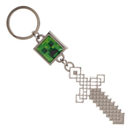 Sword and Creeper Minecraft Keychain Gaming Keychain Minecraft Accessories - Video Game Keychain Minecraft Gift - Gaming Keychains