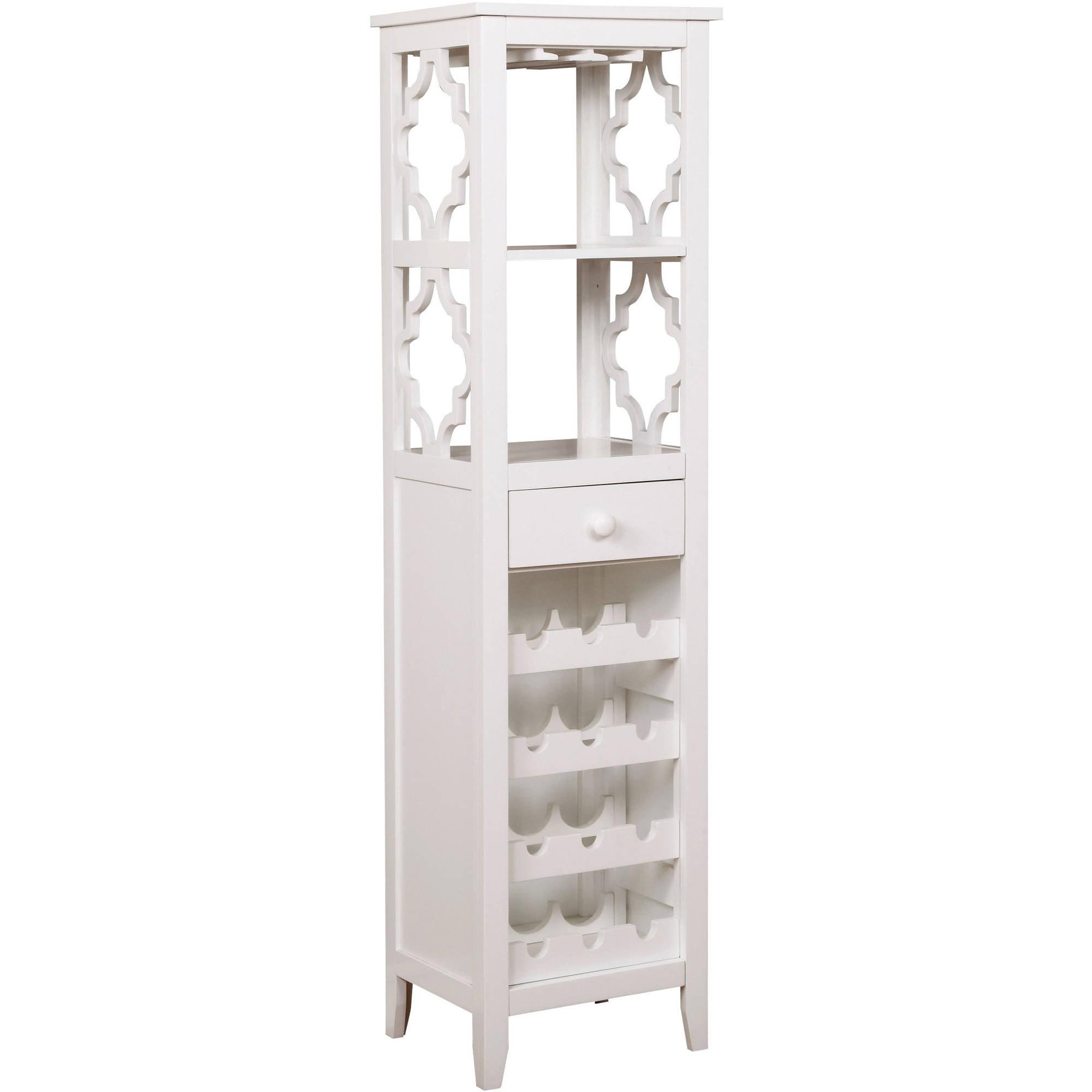 Furniture of America Mejia Wine Cabinet, White by Furniture of America