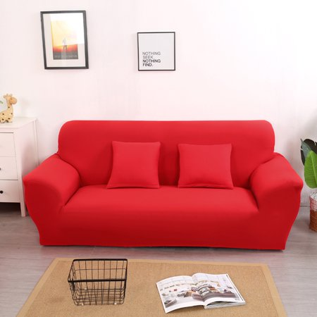 Surprising Stretch Sofa Slipcover1Pcs L Shape Loveseat Cover Elastic Sofa Cover Couch Pure Color Anti Wrinkle Sofa Protector For Moving Furniture Furniture Andrewgaddart Wooden Chair Designs For Living Room Andrewgaddartcom