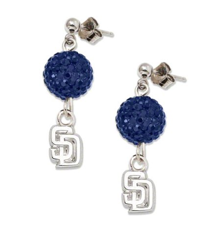 San Diego Padres S/S SAN DIEGO PADRES CRYSTAL OVATION EARRINGS