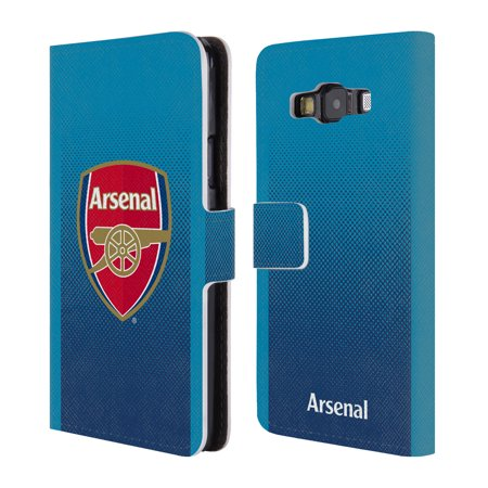 OFFICIAL ARSENAL FC 2017/18 CREST KIT LEATHER BOOK WALLET CASE COVER FOR SAMSUNG PHONES 2